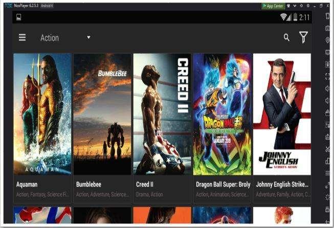 Home Page of Cinema HD APK