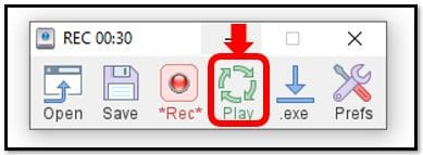 Click On Play Button to repeat tasks